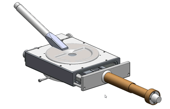 Optical Cathodoluminescence Microscope Stage - Side View